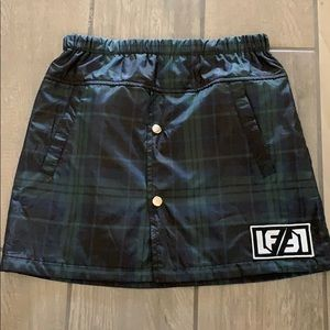 LF plaid skirt